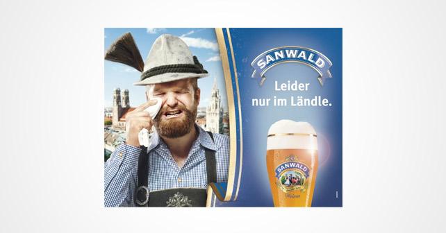 """Sanwald mit neuer Kampagne: """"Leider nur im Ländle."""""""
