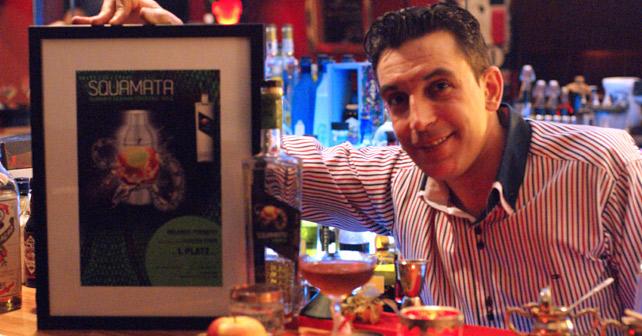 """Die Gewinner der 1. Online Competition """"Squamata Apple Vodka"""" für kreative Bartender stehen fest"""