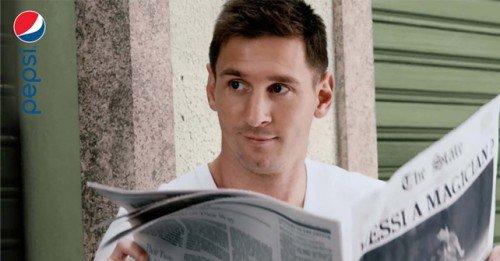 Pepsi presentó su nuevo spot con Messi como protagonista en la previa del Mundial de Brasil