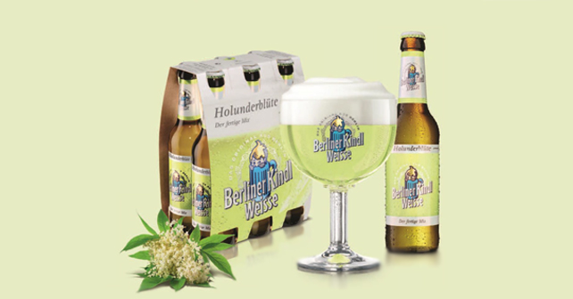 original berliner kindl weisse jetzt mit neuer premix sorte holunderbl te wei bier biermix. Black Bedroom Furniture Sets. Home Design Ideas