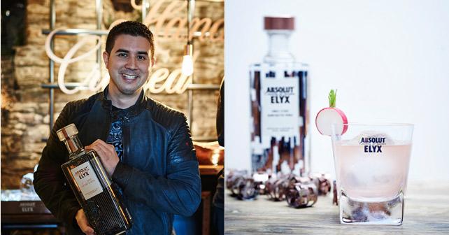 ABSOLUT INVITE Eric Bergmann und Cocktail