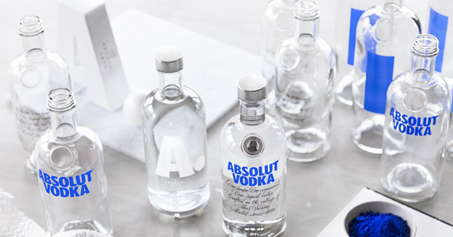 Absolut Vodka Flaschendesign A
