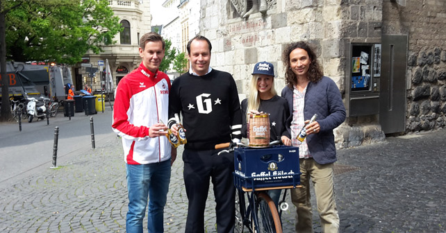 Gaffel Kronkorken-Promotion