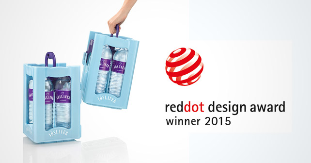 v slauer splitkiste gewinnt red dot design award 2015 afg mineralwasser verpackung. Black Bedroom Furniture Sets. Home Design Ideas