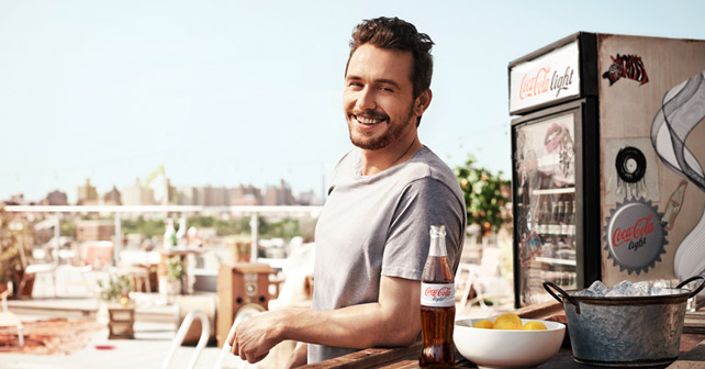 Coke light James Franco