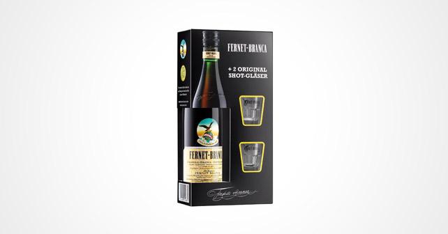 Fernet-Branca Geschenkbox Gläser