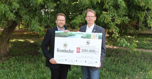 Krombacher WWF Spende