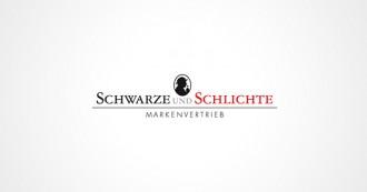 Schwarze und Schlichte Markenvertrieb Logo