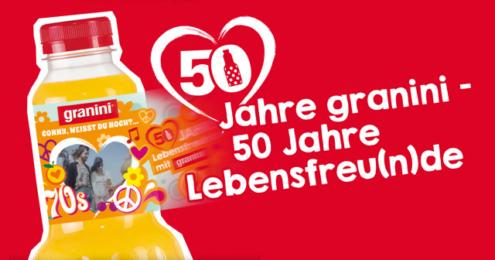 granini 50 Jahre Etiketten