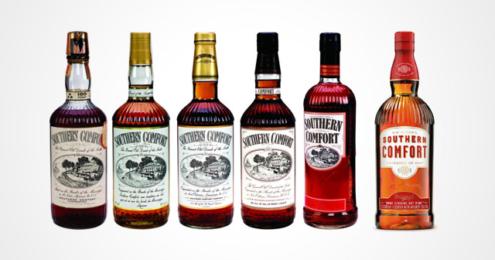 Southern Comfort Flaschen Historie