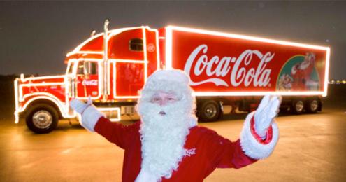 Coca-Cola Weihnachtstruck Santa Claus