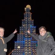 Rostocker Bierkisten-Weihnachtsbaum 2015