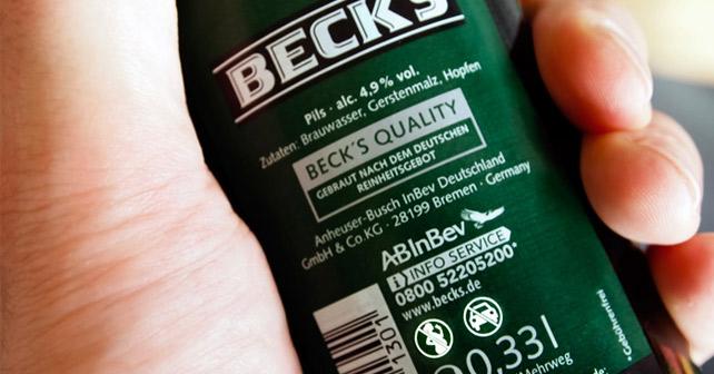 Beck's Flasche Piktogramme