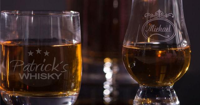 Neu: personalisierbare Whisky-Gläser von Personello.com | about ...