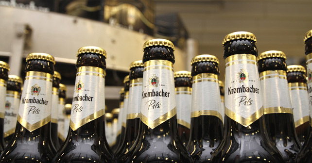 Krombacher Flaschen