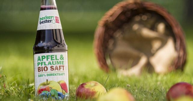beckers bester Apfel Pflaume Biosaft