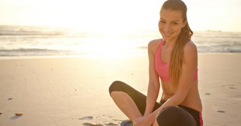 SodaStream Frau am Strand