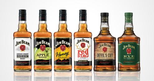 Jim Beam Portfolio Verpackungs-Relaunch
