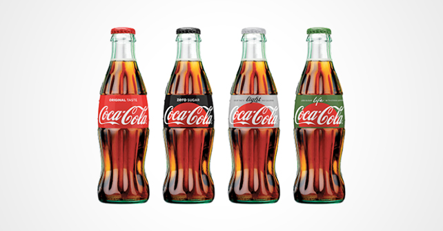Coca-Cola One Brand Packaging Design Flaschen