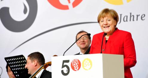 DBB Angela Merkel 500 Jahre Reinheitsgebot Rede