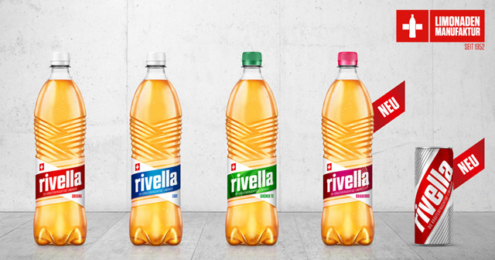 Rivella Marken-Relaunch Flaschen Dose
