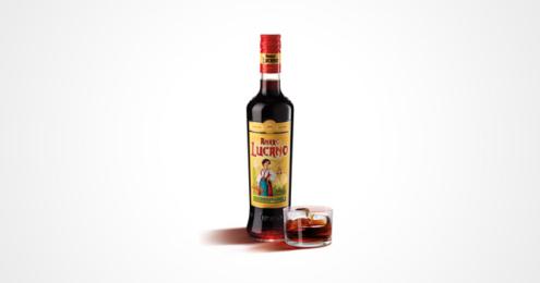 Amaro Lucano Flasche mit Glas
