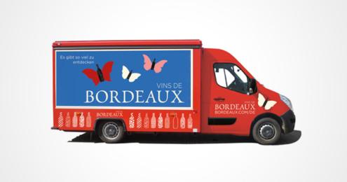 Bordeaux Wein Truck
