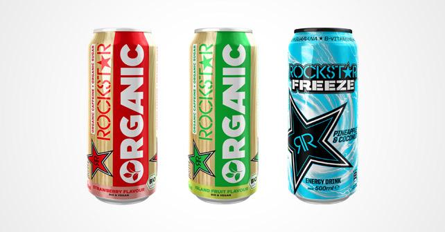 Rockstar Energy Drink Organic Freeze neue Sorten