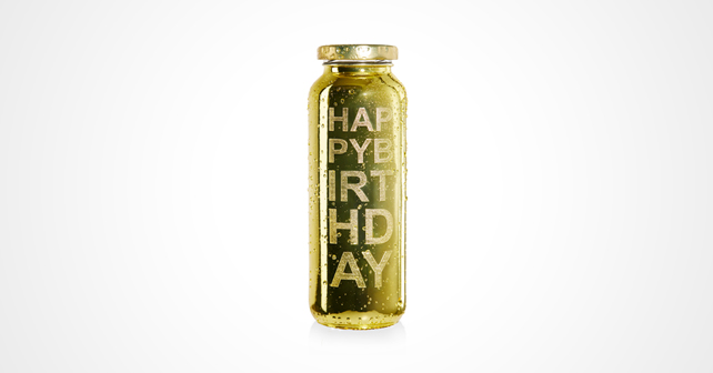 true fruits Limited Edition Gold Happy Birthday
