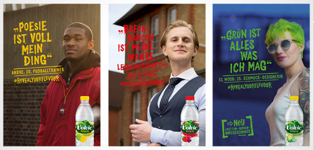 Volvic Touch #revealyourflavour Plakate