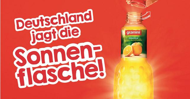 granini Sonnenflasche Promotion