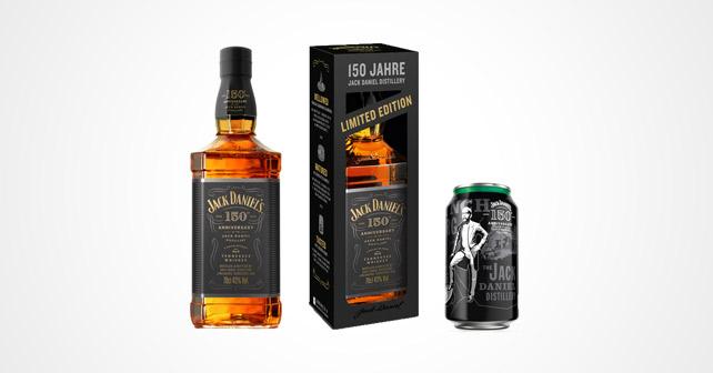 JACK DANIEL'S: Jubiläumsflasche, geschenkbox und dose