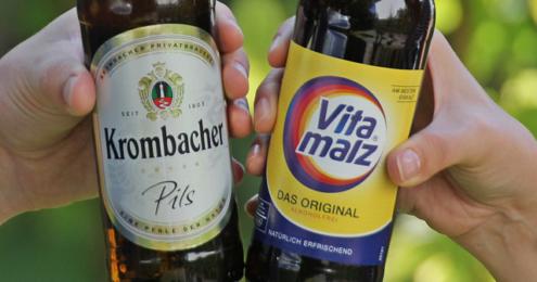 Krombacher Vitamalz Flaschen