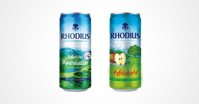 RHODIUS Mineralwasser Apfelschorle Dose