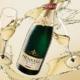 Henkell Trocken Flasche Gläser