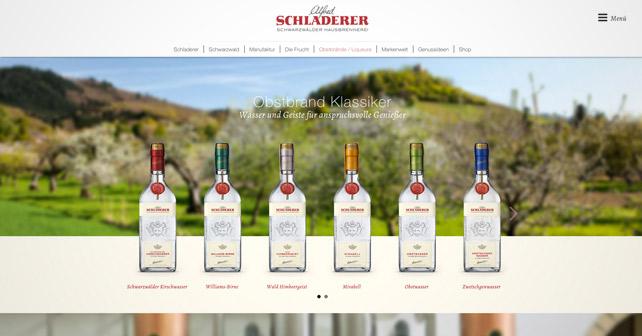 Brennerei Schladerer Website