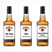 Jim Beam personalisiertes Etikett