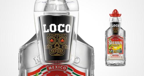 Sierra Tequila Onpack Shotglas im Día de los Muertos