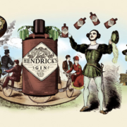 Hendrick's Gin Cucumber Illustration