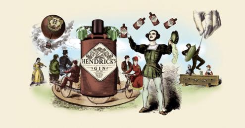 Hendrick's Gin Cucumber Illustration
