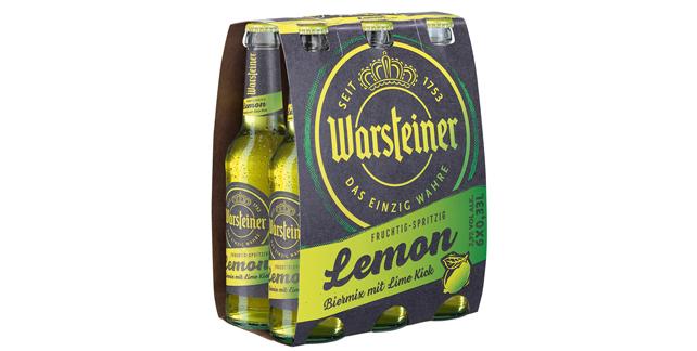 Warsteiner Lemon Im Neuen Outfit