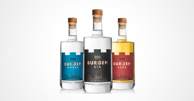 Burgen Drinks Gin Korn Wodka