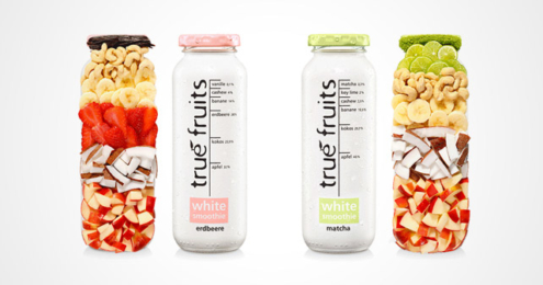 true fruits White Smoothie Erdbeere Matcha