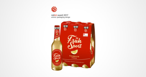 Früh Sport Fassbrause Red Dot Award 2017
