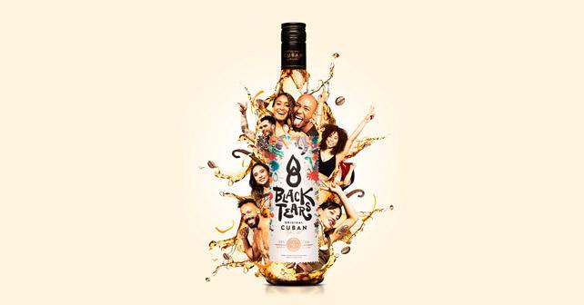 Black Tears Flasche Art