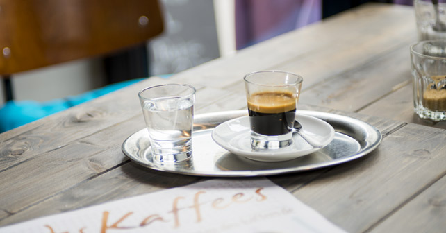 Kaffee Espresso Tisch