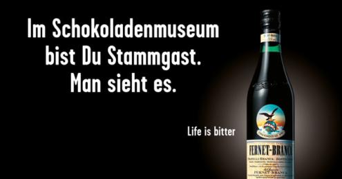 """Fernet-Branca """"Life is bitter"""" Motiv"""