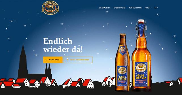 Gold Ochsen neue Website