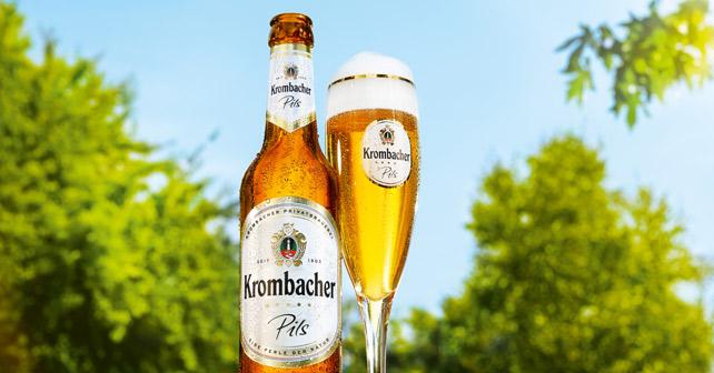 Krombacher Pils Flasche Glas