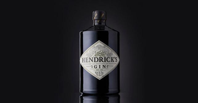 O-I Hendrick's Gin Flasche